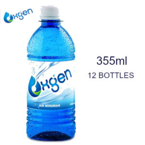 [BUNDLE PACK] OXGEN Oxygenated Drinking Water – 355ml X 12 Bottles